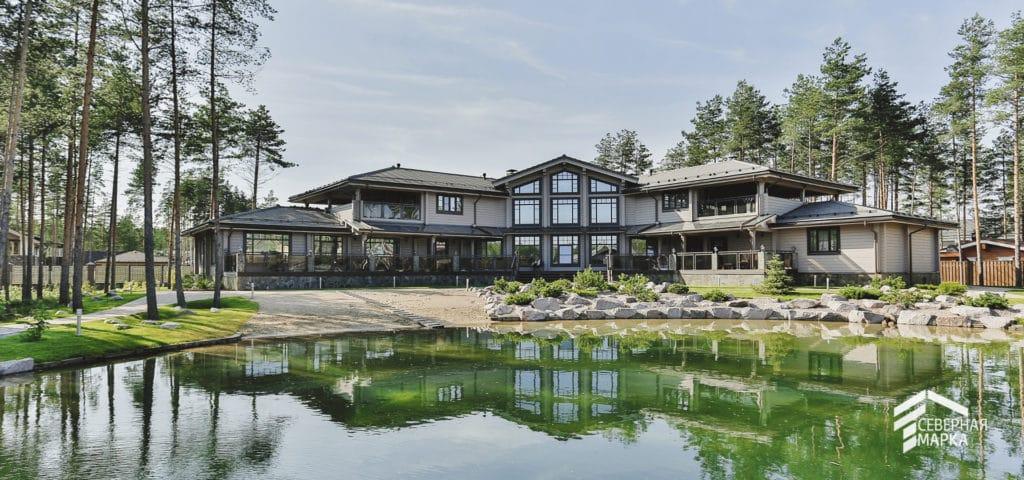 Строительство загородных домов под ключ у озера