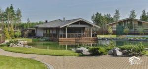 Строительство загородных домов под ключ с ландшафтным дизайном