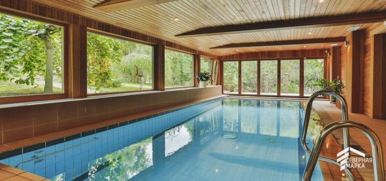 Строительство загородных домов под ключ с бассейном