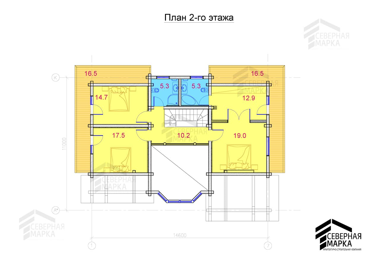 Солнечный берег ДК-210 - план 2го этажа