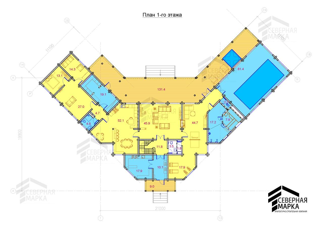Флагман ДК-670 - 1й этаж